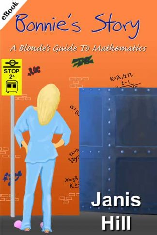Cover - blonde in pyjamas looking at door in wall