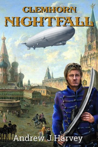 Cover of book - Donald in uniform in front of a backdrop of 18th century Red Square